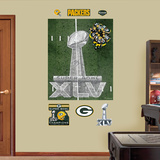 Green Bay Packers Super Bowl Midfield Mural Decal Sticker Wall Decal
