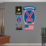 US Army 10th Mountain Insignia Logo Wall Decal Sticker Adhésif mural