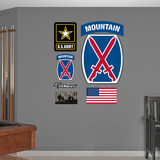 US Army 10th Mountain Insignia Logo Wall Decal Sticker Wall Decal
