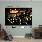 Star Wars Saga Montage Mural Decal Sticker Wall Mural