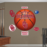 NCAA Oklahoma Sooners Basketball Logo Wall Decal Sticker Wallstickers