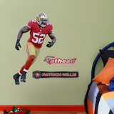 San Francisco 49ers Patrick Willis - Fathead Jr. Wall Decal Sticker Wall Decal