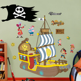 Jake & the Neverland Pirates Bucky Pirate Ship Wall Decal Sticker Vinilo decorativo