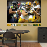 Green Bay Packers Clay Matthews 2013 Pursuit Mural Decal Sticker Wall Decal