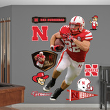 NCAA Rex Burkhead Nebraska Cornhuskers Wall Decal Sticker Wall Decal