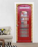 Rote Englische Telefonzelle Fototapete Türposter Wandgemälde
