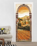Toskana– Türbogen Fototapete Türposter Wandgemälde
