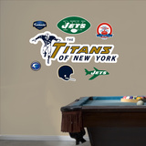 The Titans of New York AFL Logo Wall Decal Sticker Wall Decal