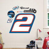 Nascar Brad Keselowski 2 Logo Junior Wall Decal Sticker Wall Decal
