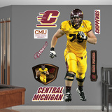NCAA/NFLPA Eric Fisher CMU Central Michigan Chippewas 2013 Wall Decal Sticker Wall Decal