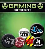 Gaming Retro Gamer Badge Pack Badge