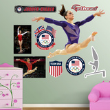 Gymnastics Jordyn Wieber Leap Wall Decal Sticker Wall Decal