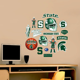 NCAA Michigan State Spartans Jr. Logosheet Wall Decal Sticker Wall Decal