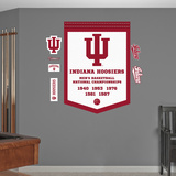 NCAA Indiana Hoosiers Basketball Championships Banner Wall Decal Sticker Wall Decal