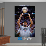 Oklahoma City Thunder Kevin Durant Western Conference Trophy Mural Decal Sticker Wall Decal