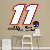 Nascar Denny Hamlin 11 Logo Junior Wall Decal Sticker Wall Decal