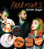 Paramore Logos Badge Pack Badge