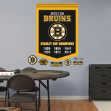 NHL Boston Bruins Stanley Cup Championships Banner Wall Decal Sticker Wall Decal