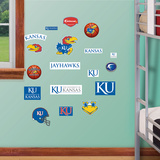 NCAA Kansas Jayhawks - Team Logo Assortment Wall Decal Sticker Wallstickers