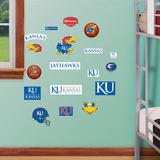 NCAA Kansas Jayhawks - Team Logo Assortment Wall Decal Sticker Muursticker