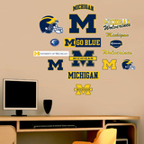NCAA Michigan Wolverines - Team Logo Assortment Wall Decal Sticker Wall Decal