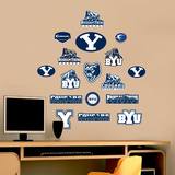 NCAA BYU Jr. Logosheet Wall Decal Sticker Wallstickers