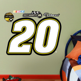 Nascar Matt Kenseth 20 Logo Junior Wall Decal Sticker Wall Decal