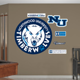 NCAA Northwood Timberwolves Logo Wall Decal Sticker Wall Decal
