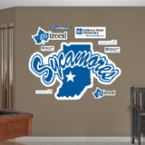 NCAA Indiana State Sycamores Logo Wall Decal Sticker Wall Decal