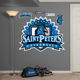 NCAA Saint Peter's Peacocks Logo Wall Decal Sticker Wall Decal