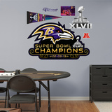 Baltimore Ravens Super Bowl XLVII Champions Logo Wall Decal Sticker Wall Decal