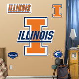 NCAA Illinois Fighting Illini Logo Wall Decal Sticker Wall Decal