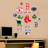 MLB Red Sox Jr. Logosheet Wall Decal Sticker Wall Decal