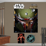 Star Wars Boba Illustration Mural Decal Sticker Wall Decal