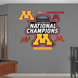 NCAA Minnesota Golden Gophers 2013 Womens Hockey National ChampsLogo Wall Decal Sticker Wall Decal