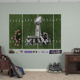 Baltimore Ravens Ravens Super Bowl 47 Overhead Huddle Mural Decal Sticker Wall Decal