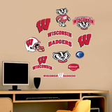 NCAA Wisconsin Badgers - Team Logo Assortment Wall Decal Sticker Adhésif mural
