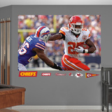 Kansas City Chiefs Jamaal Charles In Your Face Mural Decal Sticker Wall Decal