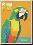 Parrot Palace Impressão em tela esticada por  Anderson Design Group