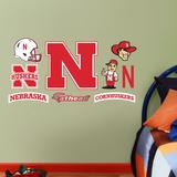 Nebraska Cornhuskers - 2012 Team Logo Assortment Wall Decal Sticker Wallstickers