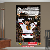 NHL Chicago Blackhawks Jonathan Toews 2013 Stanley Cup Hoist Mural Decal Sticker Wall Decal