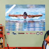 Swimming Ryan Lochte Mural Decal Sticker Wall Decal