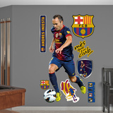 FC Barcelona Iniesta Wall Decal Sticker Wall Decal