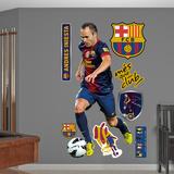 FC Barcelona Iniesta Wall Decal Sticker Wall Decal