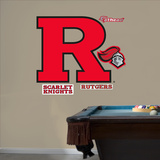 "NCAA Rutgers Scarlet Knights ""Block R"" Logo Wall Decal Sticker Wall Decal"