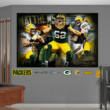 Green Bay Packers Clay Matthews 2013 Montage Mural Decal Sticker Wall Decal