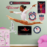 Gymnastics Gabby Douglas - Leap Wall Decal Sticker Wall Decal