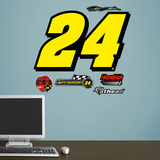Nascar Jeff Gordon 24 Wall Decal Sticker Vinilo decorativo