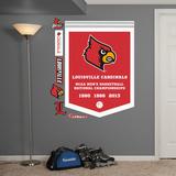 NCAA Louisville Cardinals Basketball Championships Banner Wall Decal Sticker Wallstickers