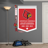 NCAA Louisville Cardinals Basketball Championships Banner Wall Decal Sticker Wall Decal